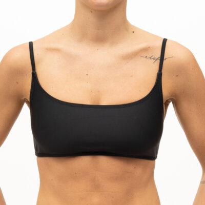 Plain black bikini top