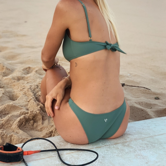 London green high waist bikini bottom