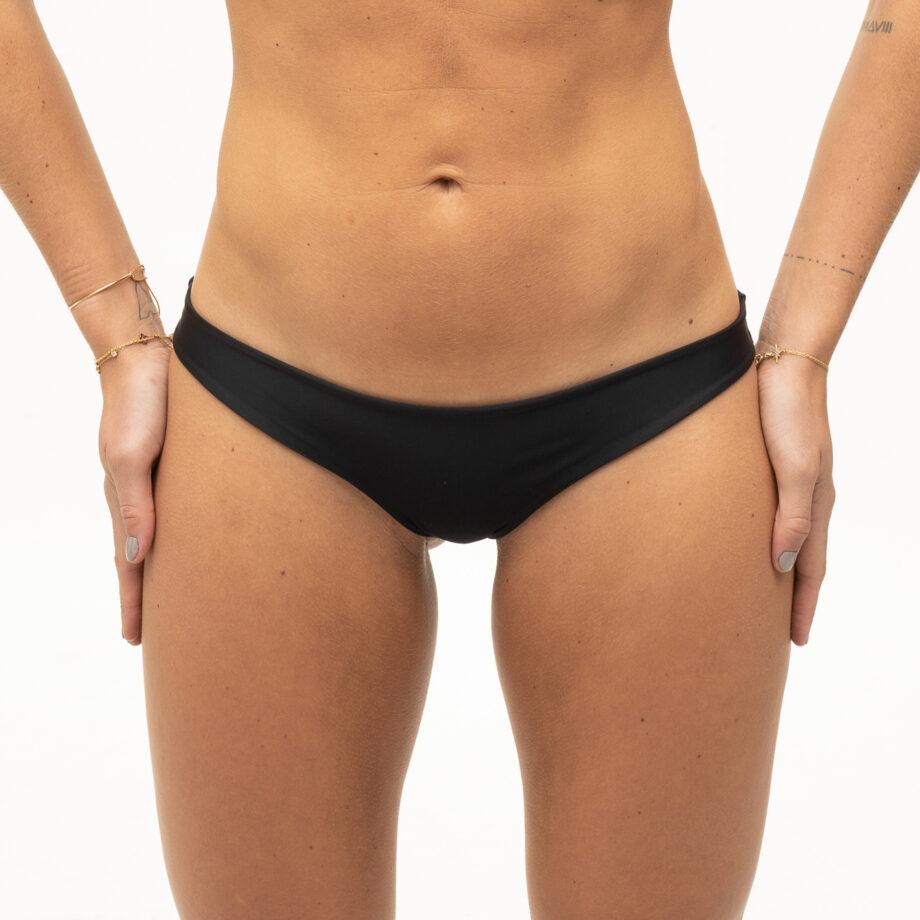 Low waisted black bikini bottom