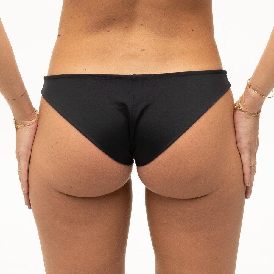 Plain black bikini bottoms
