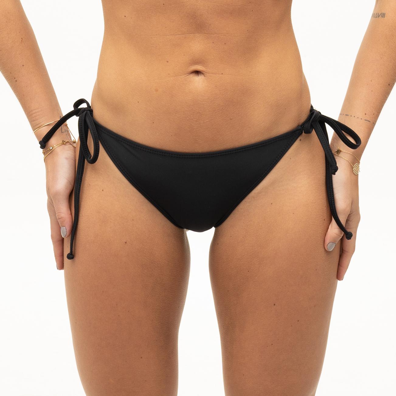 Black bikini bottoms with bows