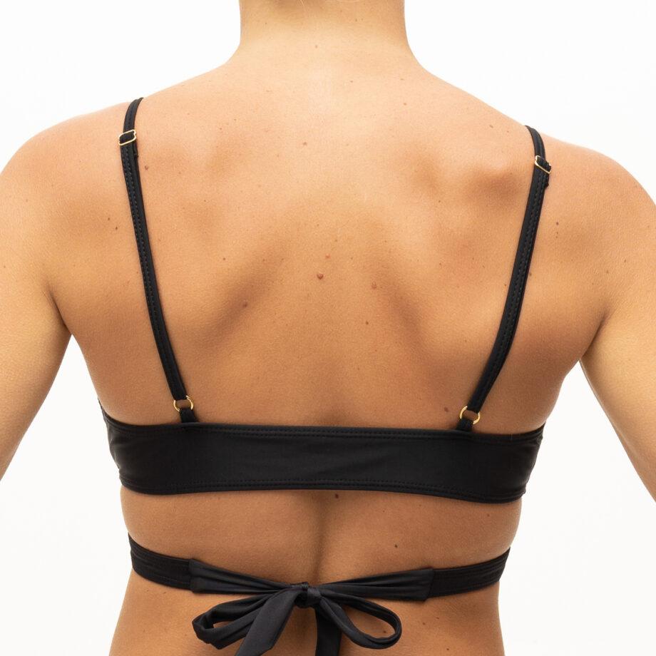 Wrapped black bikini top