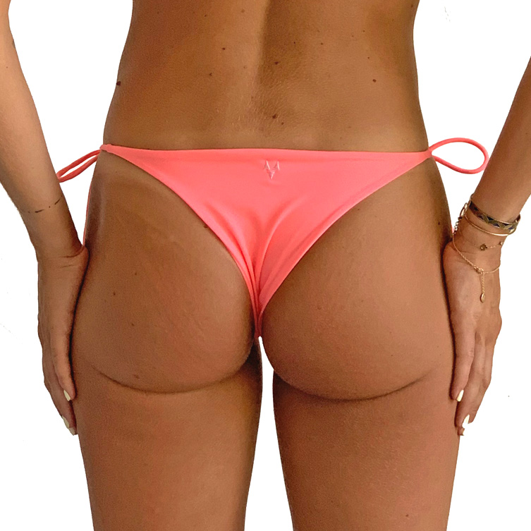 Pink bikini bottoms with bows