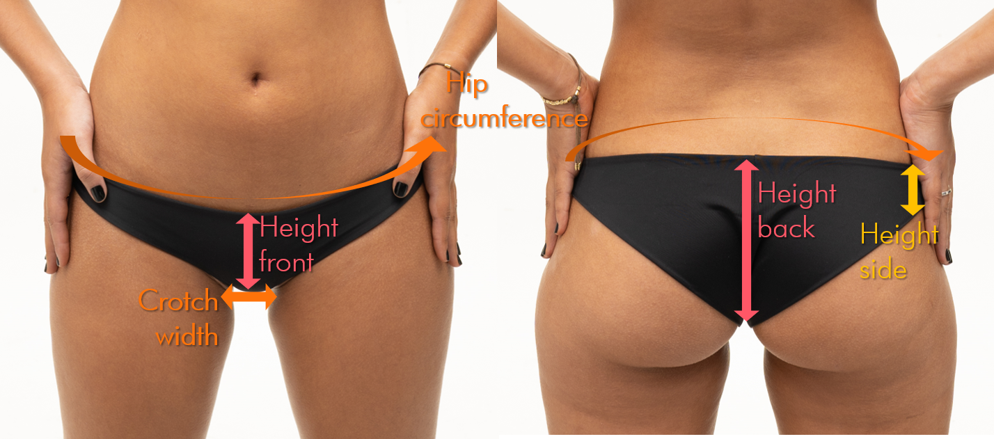 Bikini bottoms fitting support