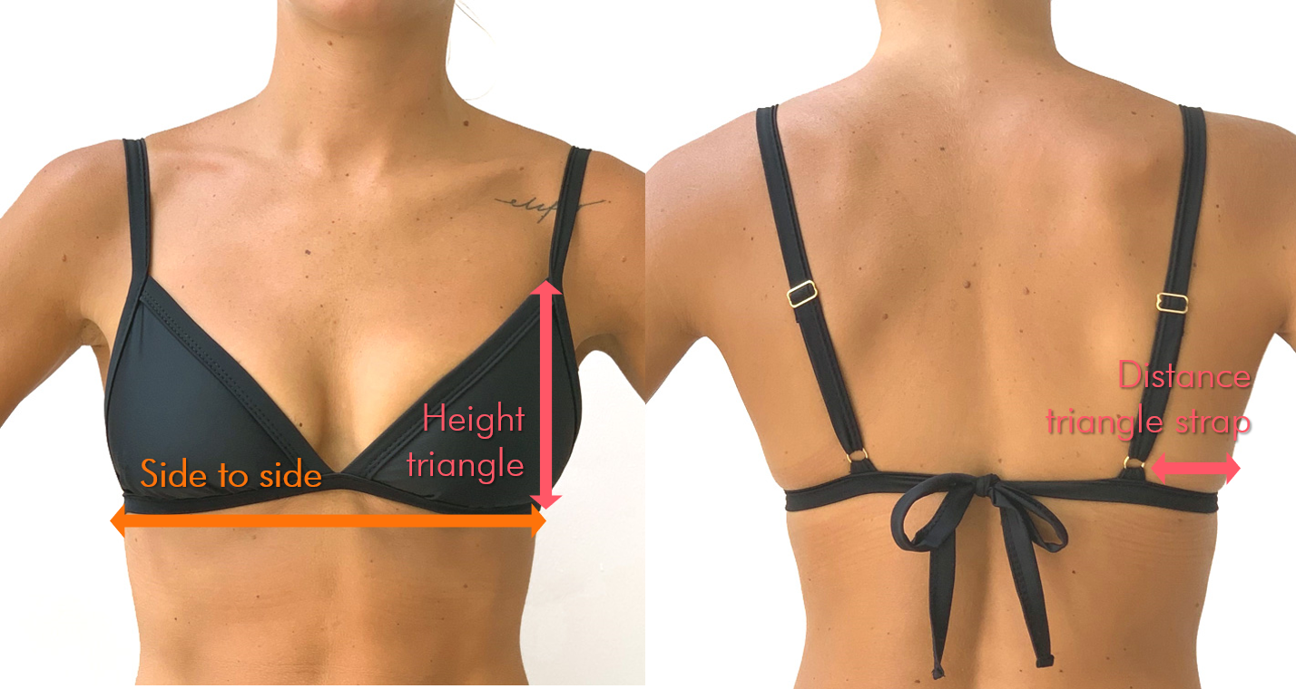 plain black bikini top fitting guidelines