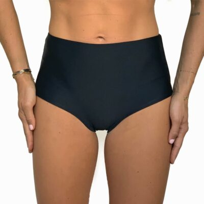 High waisted bokini bottom that covers hips and belly