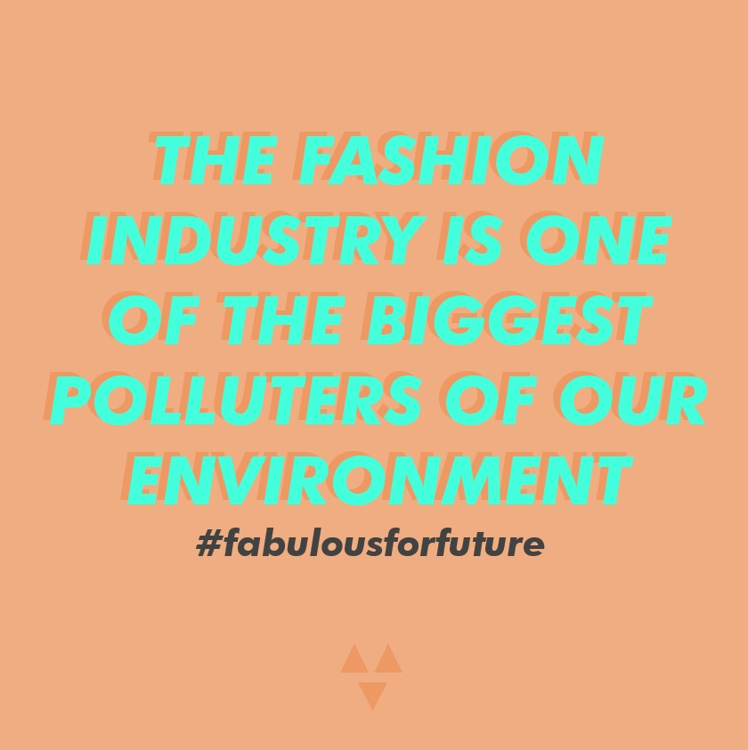 the fashion industry is one of the biggest polluters of our environment