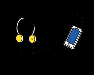 icon saubere sache musik in die ohren