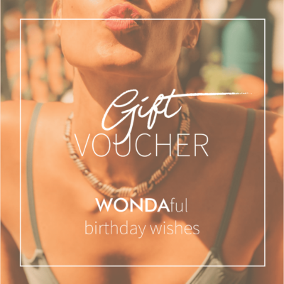 birthday gift voucher for sustainable swim and sportswear