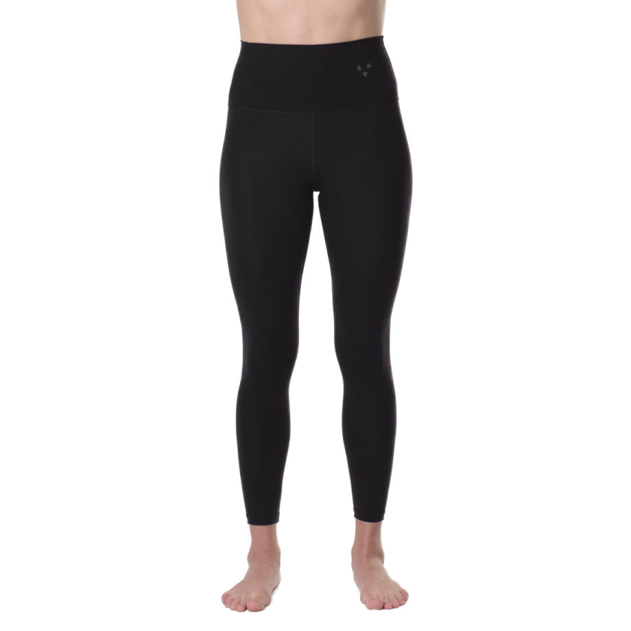 Sustainable long WONDA sports pants in black high waist