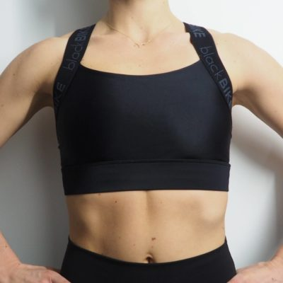 Sustainable sports bra by WONDA made for our blackBike friends from Munich - front view